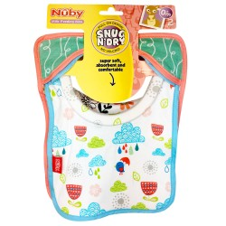 Nuby - Snug 'n' Dry Feeding Bibs 2 pieces