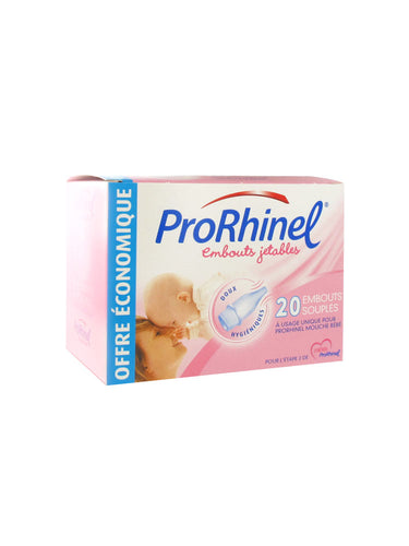 ProRhinel - 20 Disposable Supple Ends for Baby Nose Blower