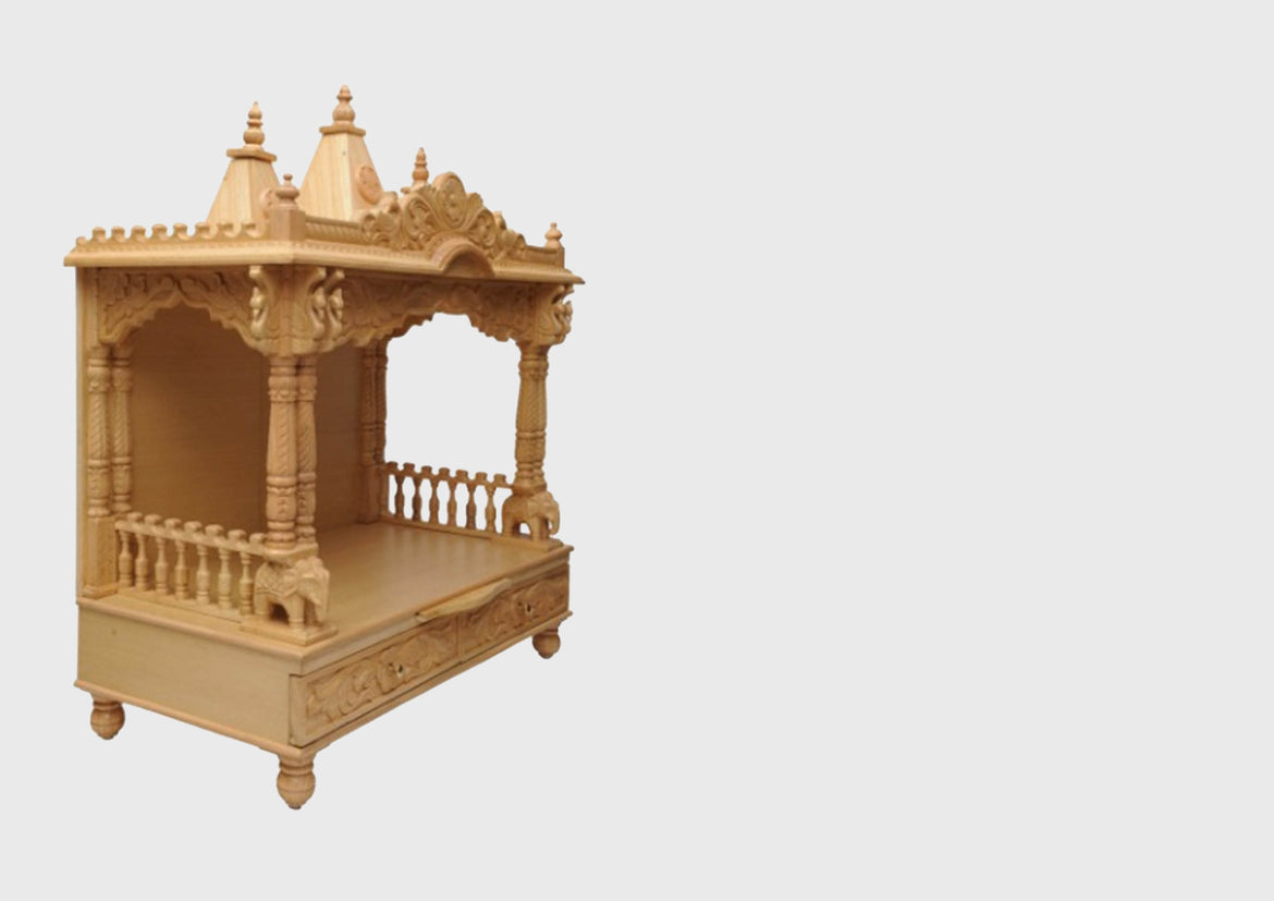 Nice Wooden Mandir Designs For Home Gallery - Home Decorating Ideas ...
