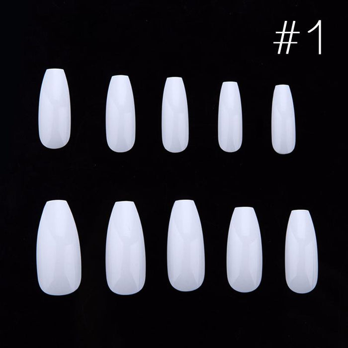 100pcs/box New Ballerina Nail Tips Full Nails Coffin Shape ...