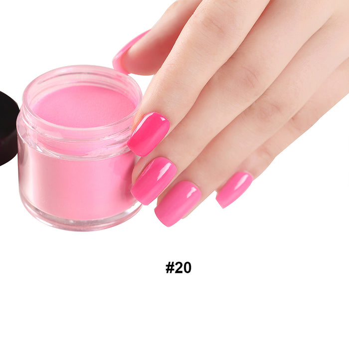 18g/Box Colorful Dipping Powder Without Lamp Cure Nails Dip Powder ...