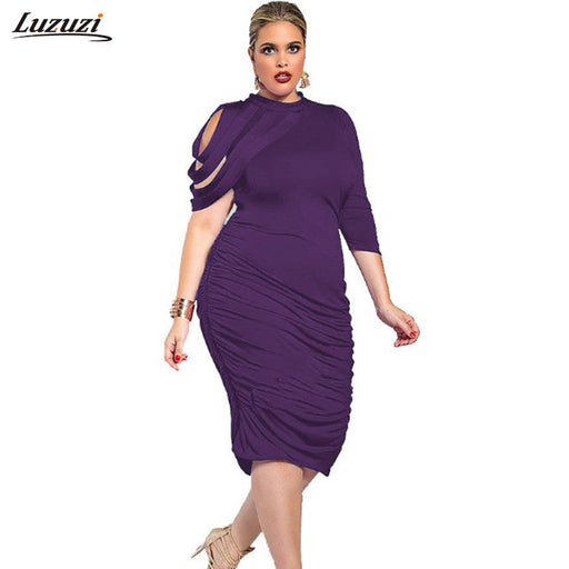 1PC Plus size Dress Women Stripes One Shoulder Sexy Dress Office Party  Dresses Vestidos Mujer 2017 ee675743179d