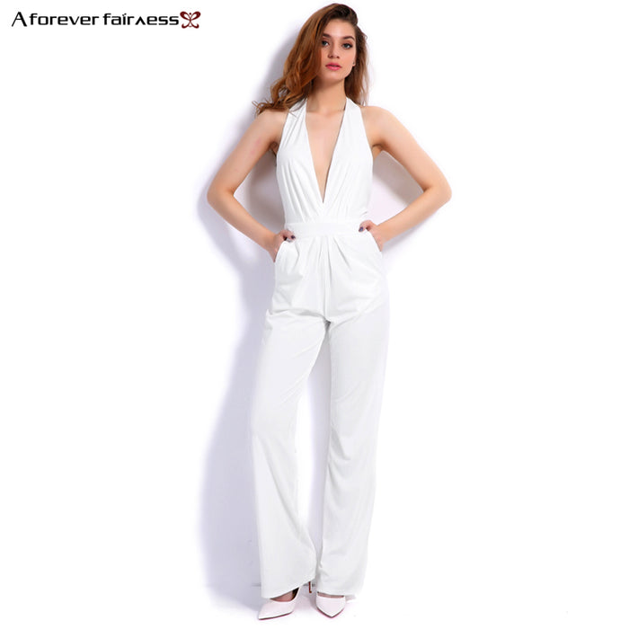 40d69081049 A Forever 2017 New Fashion Women Jumpsuit Sleeveless Hollow Out Backless  Elegant Sexy Jumpsuit Slim Regular