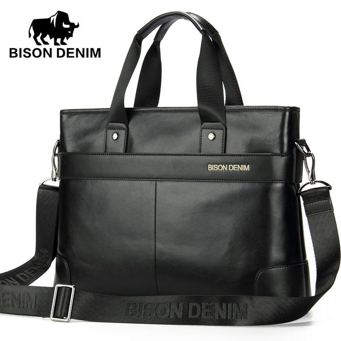 e5f917599a929 BISON DENIM Genuine leather Briefcases 14