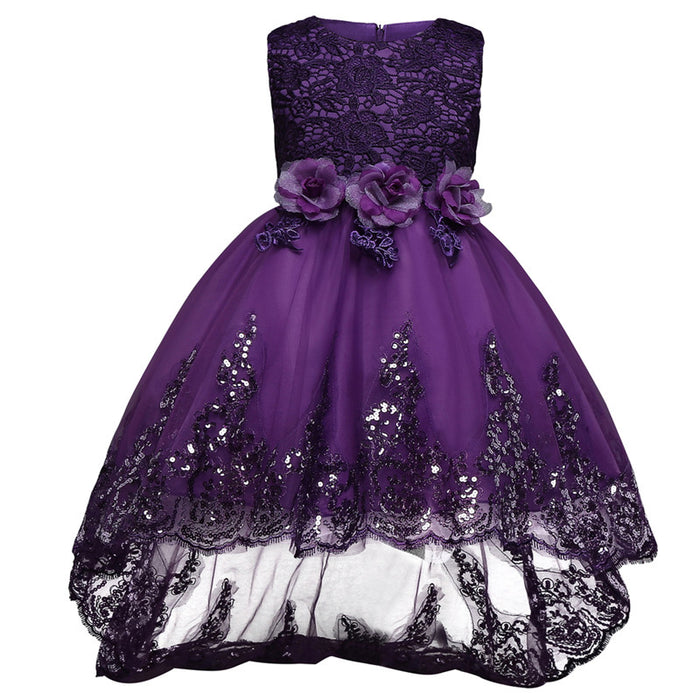 Baby Girls Clothes Sleeveless Princess Children Flower Girl Dresses ...