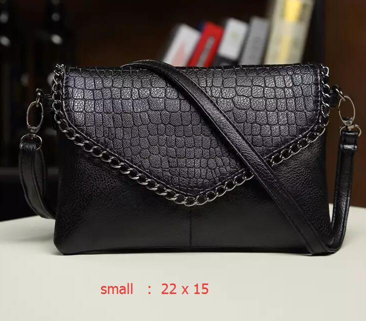Big size women bags female small shoulder bags leather handbag black purses  crossbody bags for women 88249e7490ee7