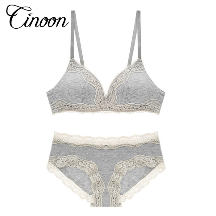 0724cef4a0 CINOON 2017 Sexy Lace Women Push Up Bra Sets High Quality Bra Brief Sets  French Romantic