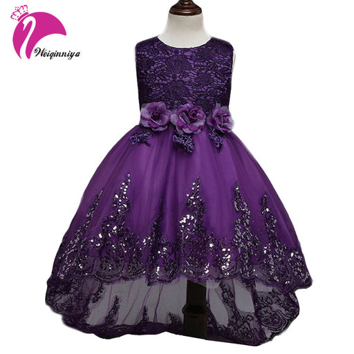 FREE SHIPPING Children Dress Girls New 2017 Summer Brand Fashion Bow Floral  Kids Wedding Party Dresses 2527de7b56ec