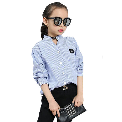 6489144f5c Children Striped Blouses For Girls Clothing Long Sleeve Smiling Face Shirts  Baby Girls Tops Cotton School