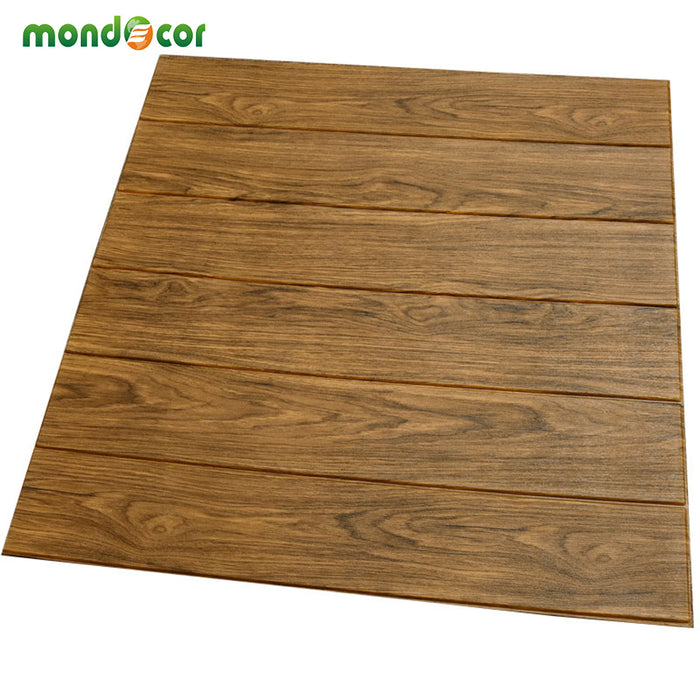 diy self adhesive 3d wooden wall stickers living room decor foam