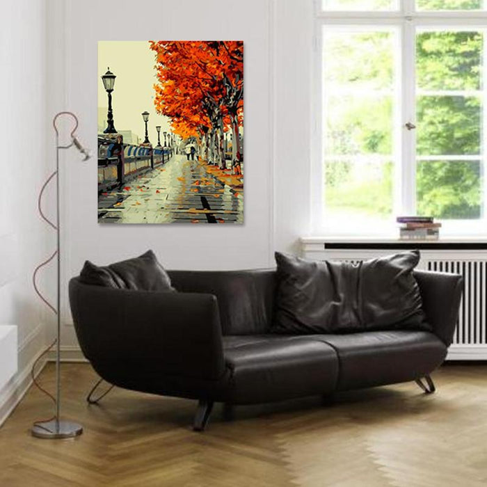 diy digital painting hand painted oil painting living room entrance