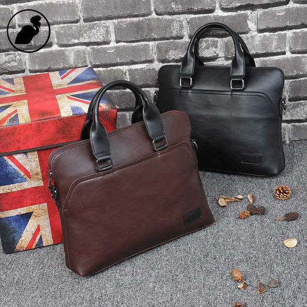 ETONWEAG Famous Brands Italian Leather Briefcases Men Messenger Bags Brown Luxury Document Briefcase Lawyer Mens Office Bags