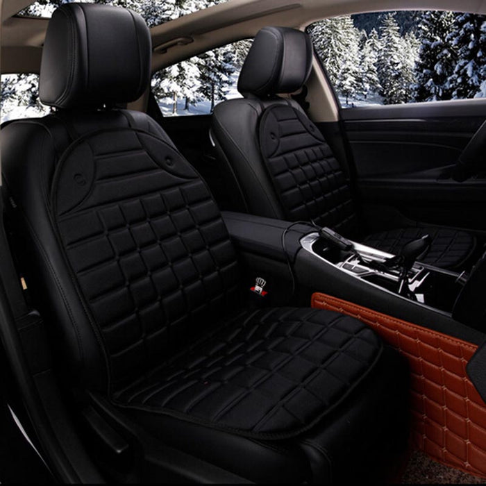 Electric Heated Car Seat Cushion Winter Pad Covers Universal Conjoined Supplies