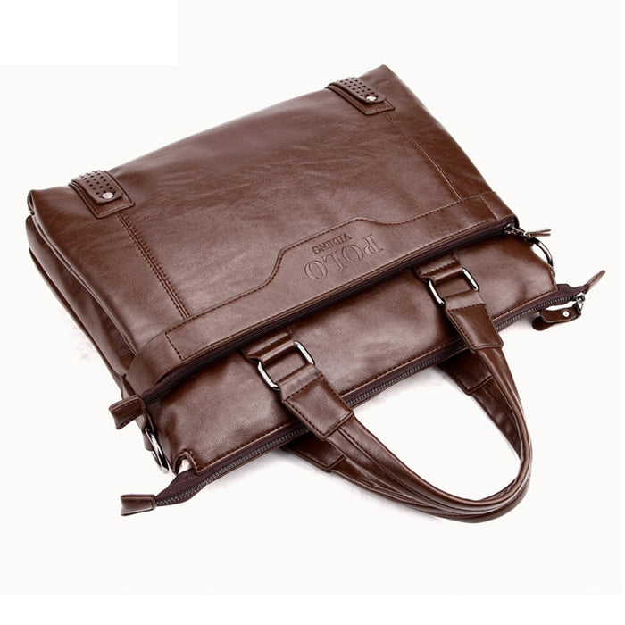 6a0c0691d49f Fashion Good Quality Leather Men s Messenger Bags Man Portfolio Office Bag  Quality Travel Shoulder Handbag for