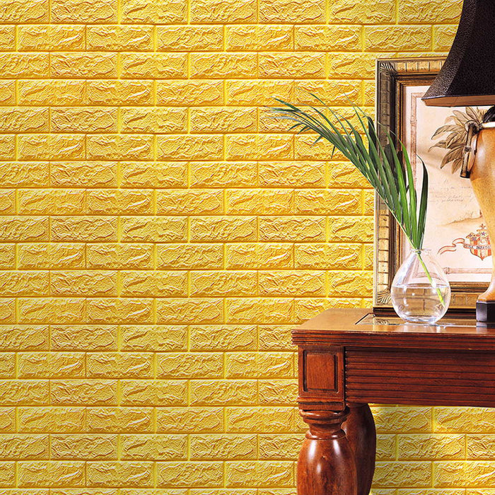 ISHOWTIENDA PE Foam 3D Wallpaper DIY Wall Stickers Wall Decor ...