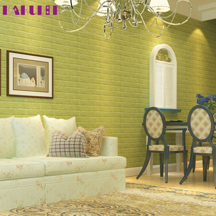 KAKUDER Top Grand PE Foam 3D Wallpaper DIY Wall Stickers Wall Decor ...