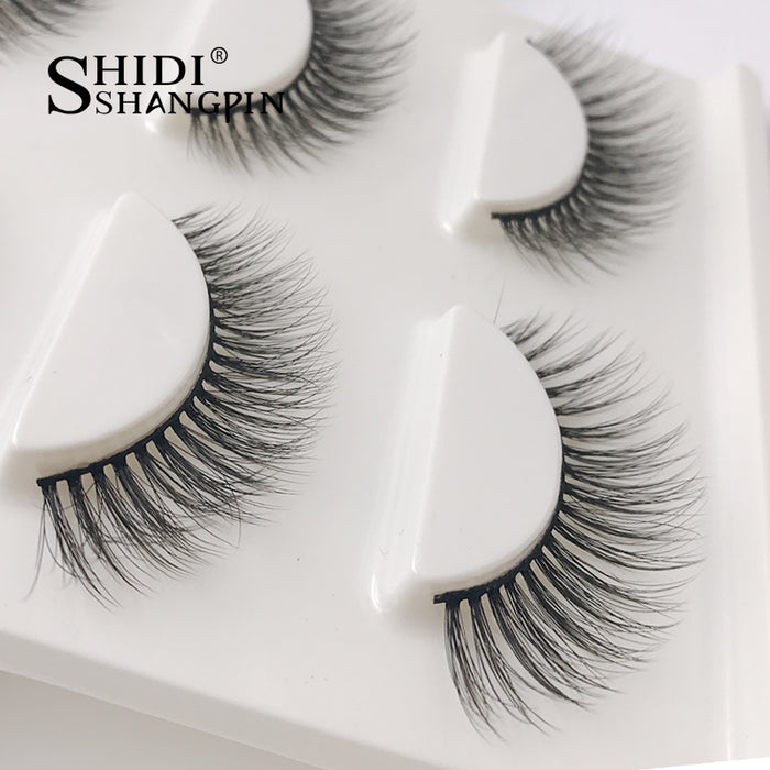 New 3 Pairs Strip Mink Lashes 3d Thick Fake Eyelashes Real Mink Fur