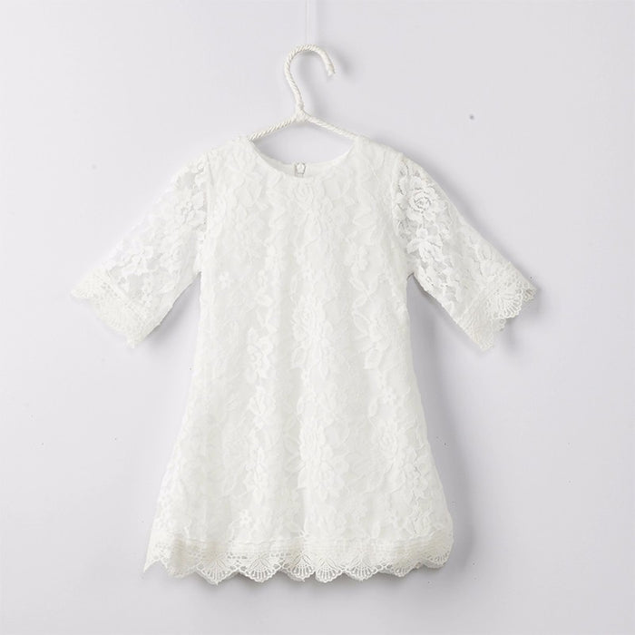 b5d677825b2b New Baby Girls Flower Lace Dresses 2017 Spring Summer Children s ...