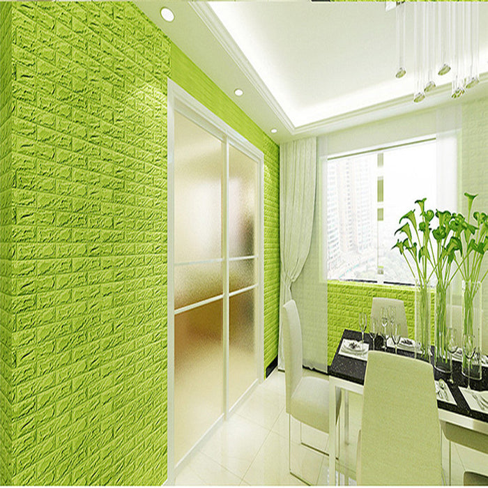 New PE Foam 3D Wallpaper DIY Wall Stickers Wall Decor Embossed Brick ...
