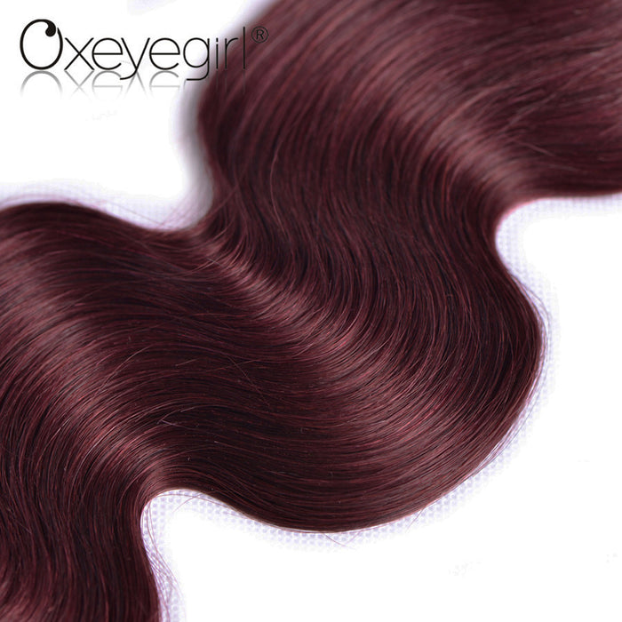Burgundy Brazilian Hair Weave Bundles Body Wave Human Hair Bundles
