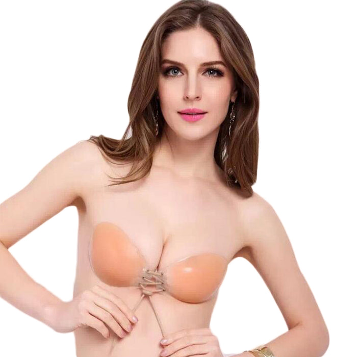 d7fdafbfdd4d1 Sexy Super Push Up Bra Silicone Bralette Big Cup Backless Strapless Bras  Invisible Bras Women s 2017