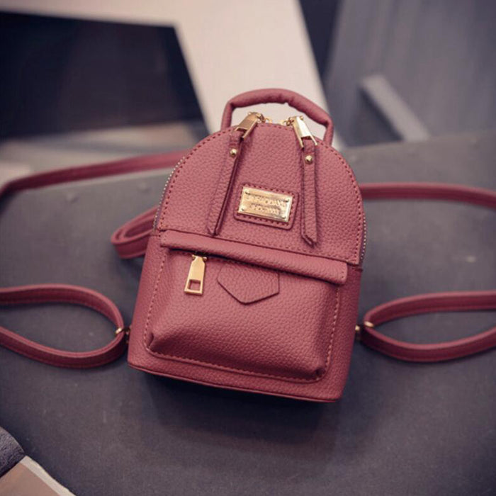 9fef81b09a The new female backpack shoulder bag women messenger Mini small backpack  College wind pu leather simple