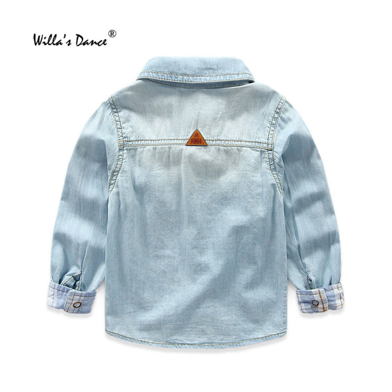 48f64f148a Willa s Dance Kids Denim Shirts Boys and Girls Clothes 2017 Fall Cotto —  EG-Express