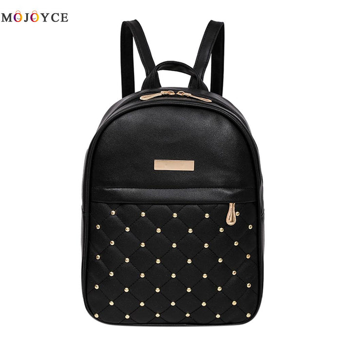 db500d3e39 Women Backpack Hot Sale Fashion Causal bags High Quality bead female  shoulder bag PU Leather Backpacks