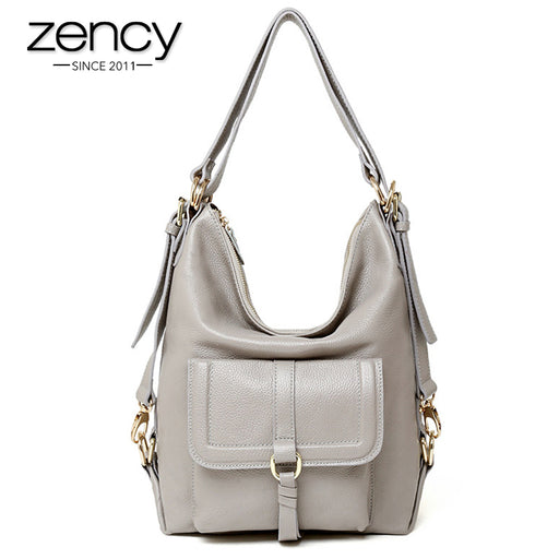24bf1c0947 Zency Brand Hot Sale Fashion Ladies Hobos Classic Women Handbag 100%  Genuine Leather Large Capacity