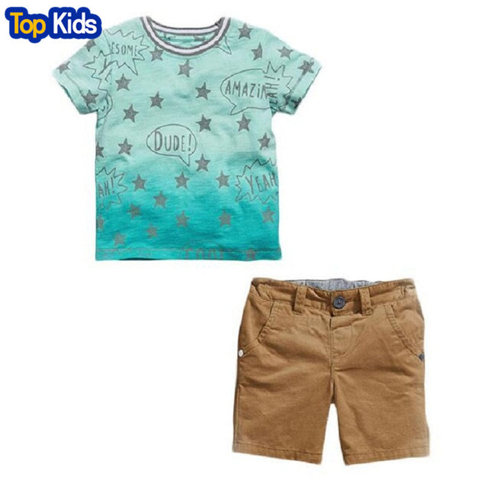 4100fa585 kids clothes boys sets summer children clothing sets baby boys star ...