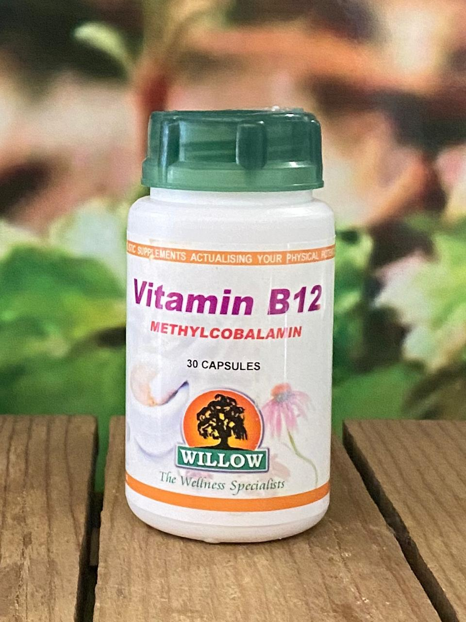 Willow Vit B12 Methyl Cobalamin 30 capsules