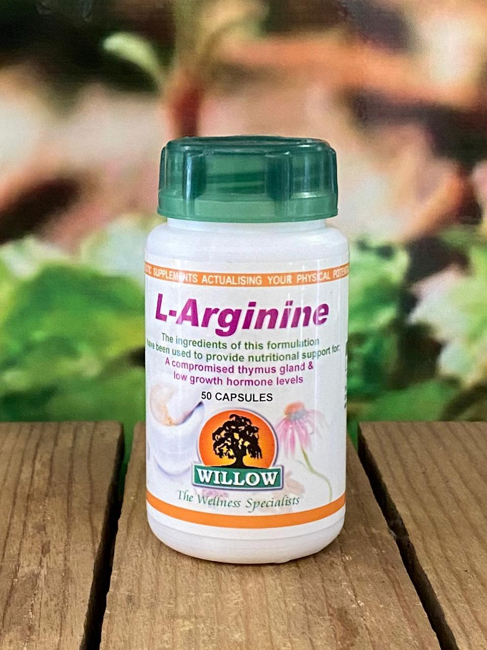 Willow L-Arganine 50 capsules
