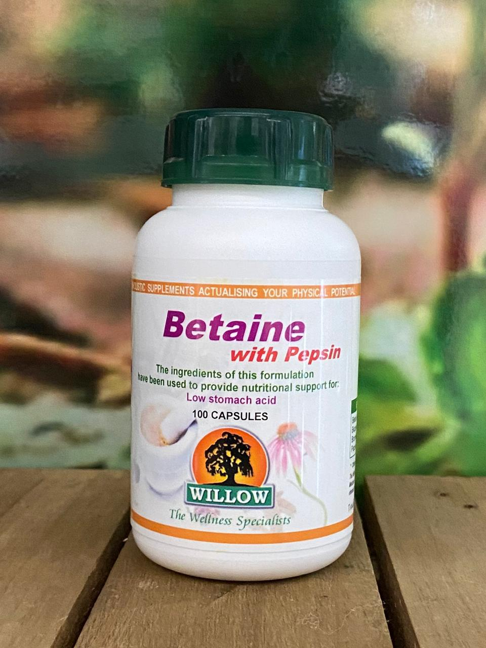 Betaine with Pepsin 100 capsules