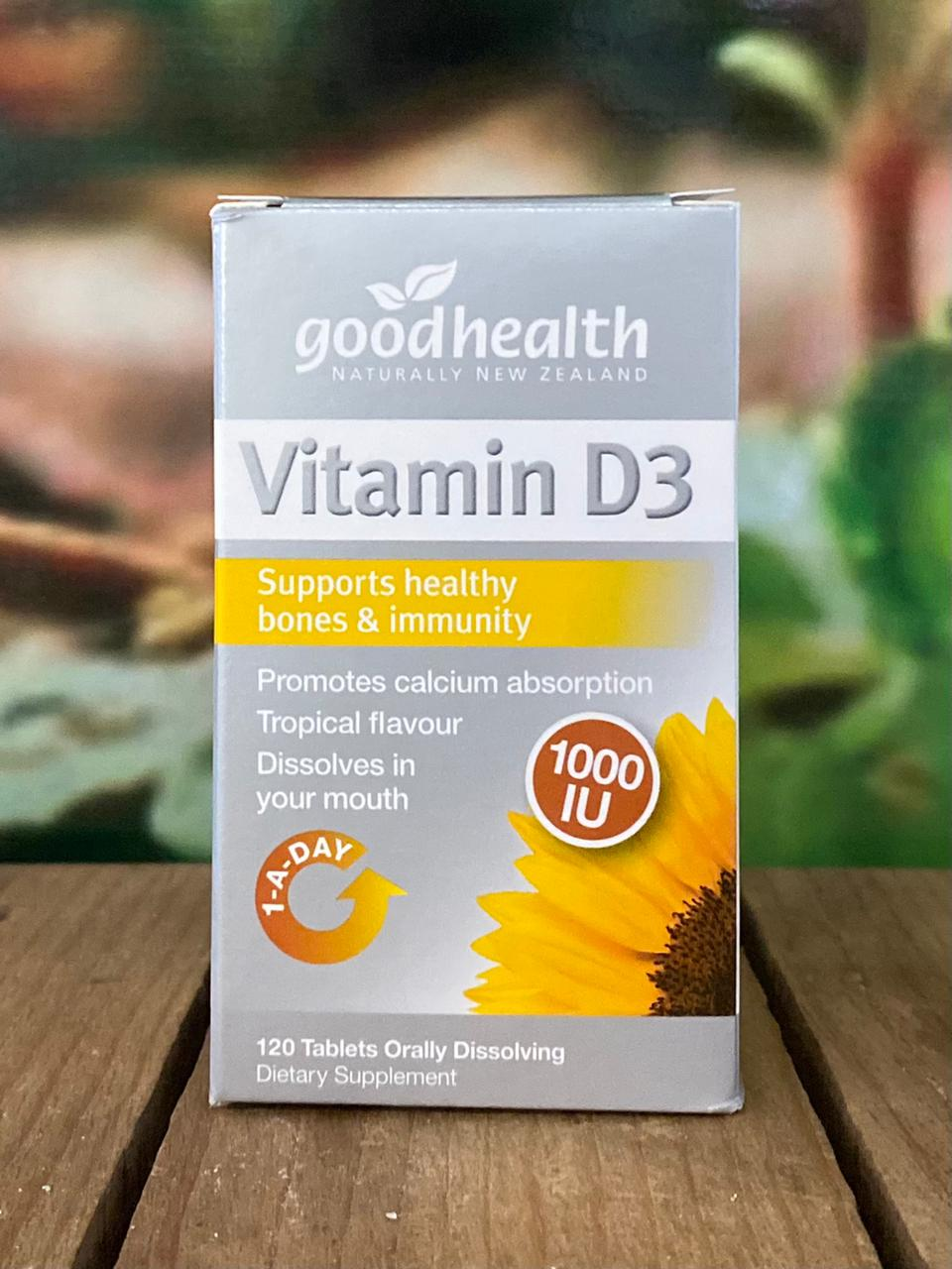 Vitamin D3 1000IU 120 tablets