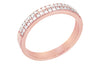 Tribeca diamantring i rosé 585 gull W/SI totalt 0,24 ct.
