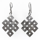 Etched Endless Knot Earrings Yak & Yeti