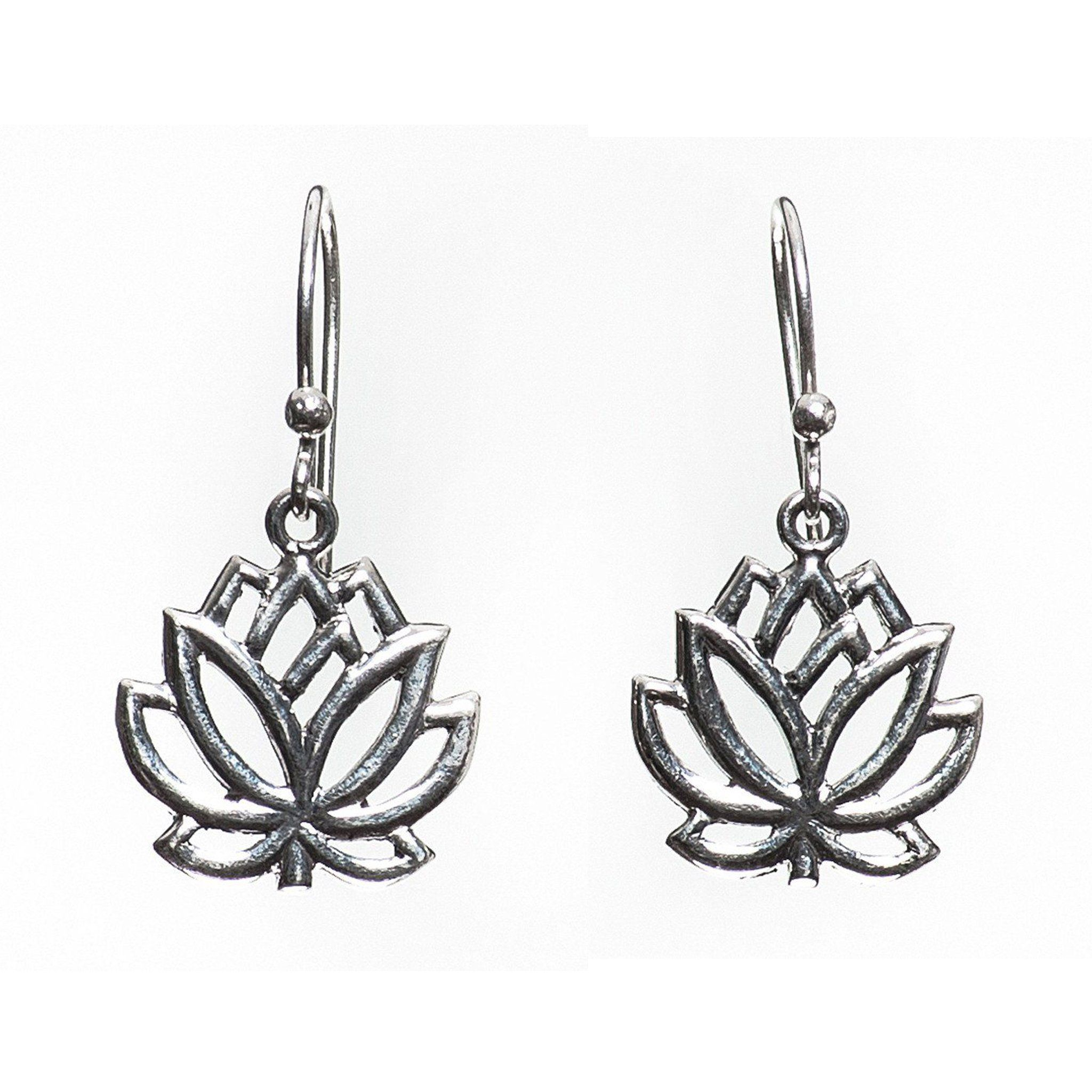 Lotus Flower Earrings Millenium