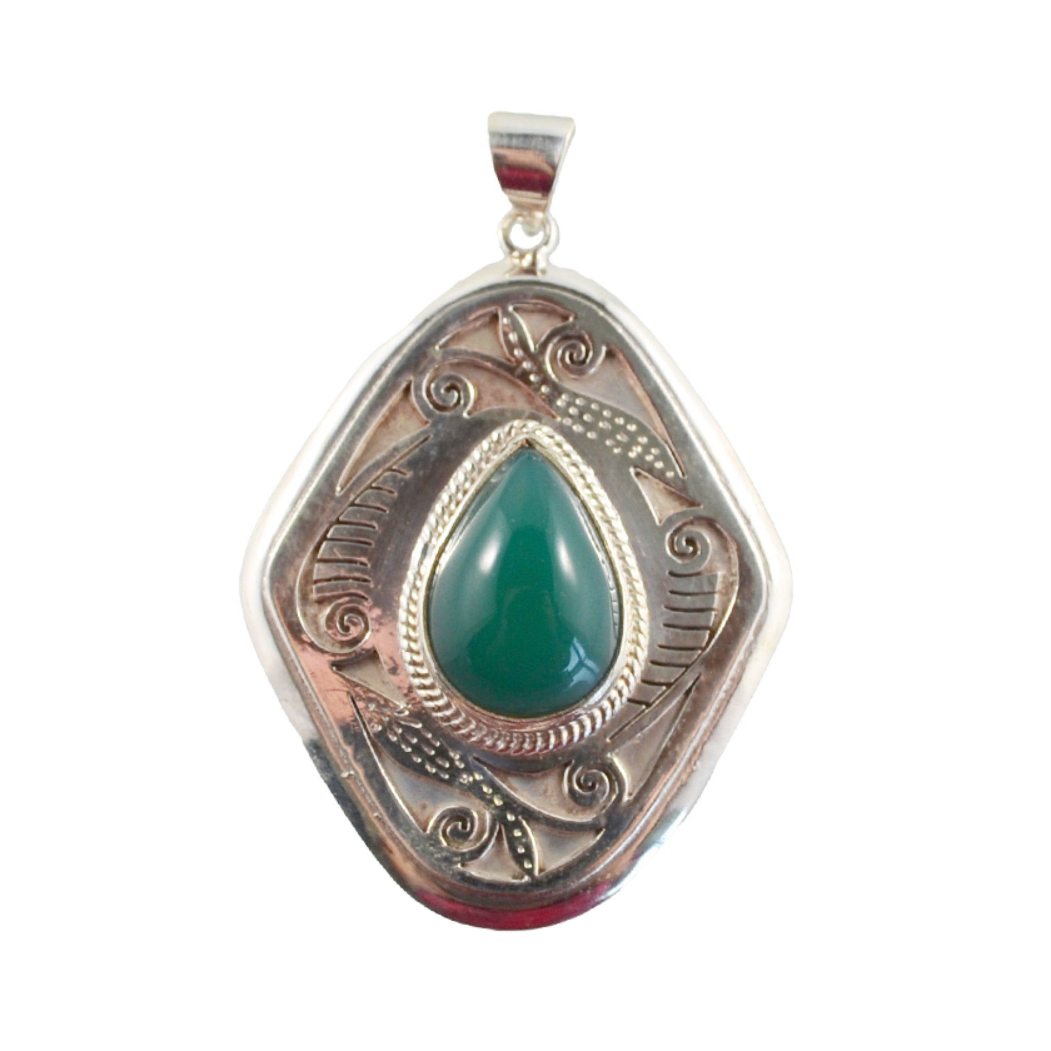 Pendant with Green Teardrop Pendant Himal International