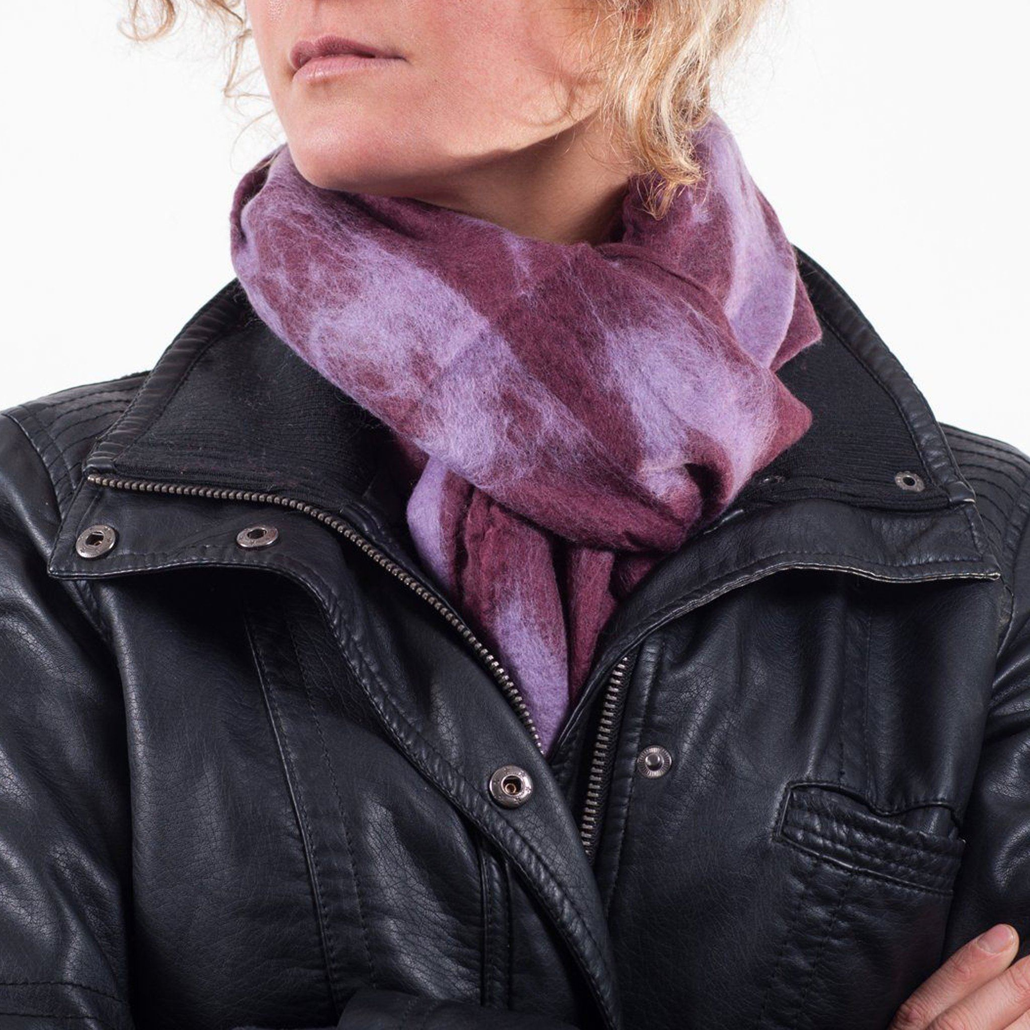 Plum felt scarf Everest Fashion