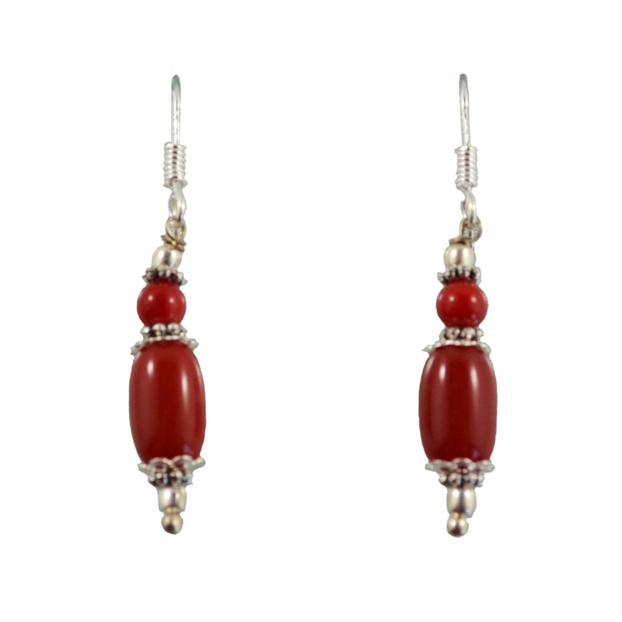 Red Drop Earrings Himal International