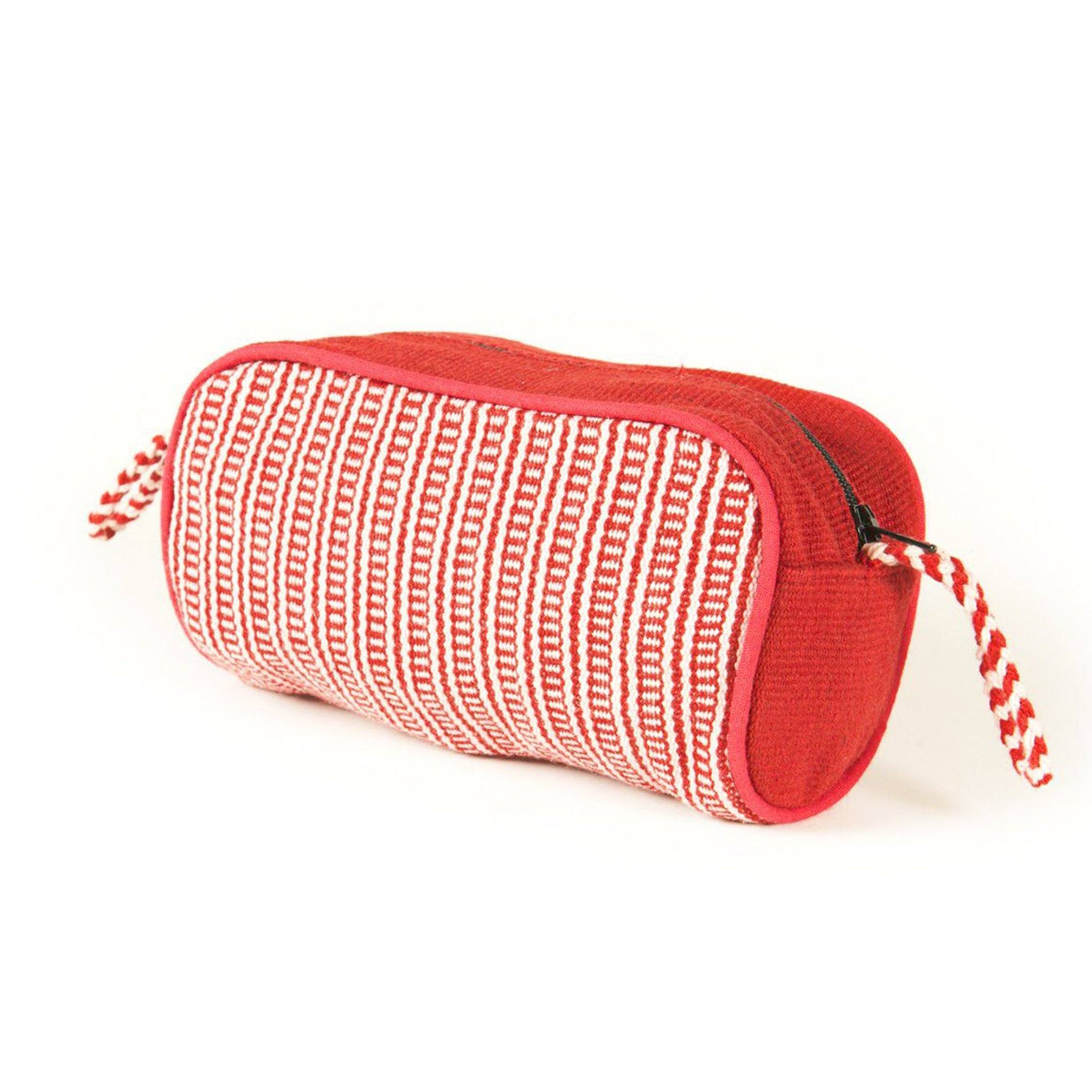 Red Striped Beauty Bag WSDP