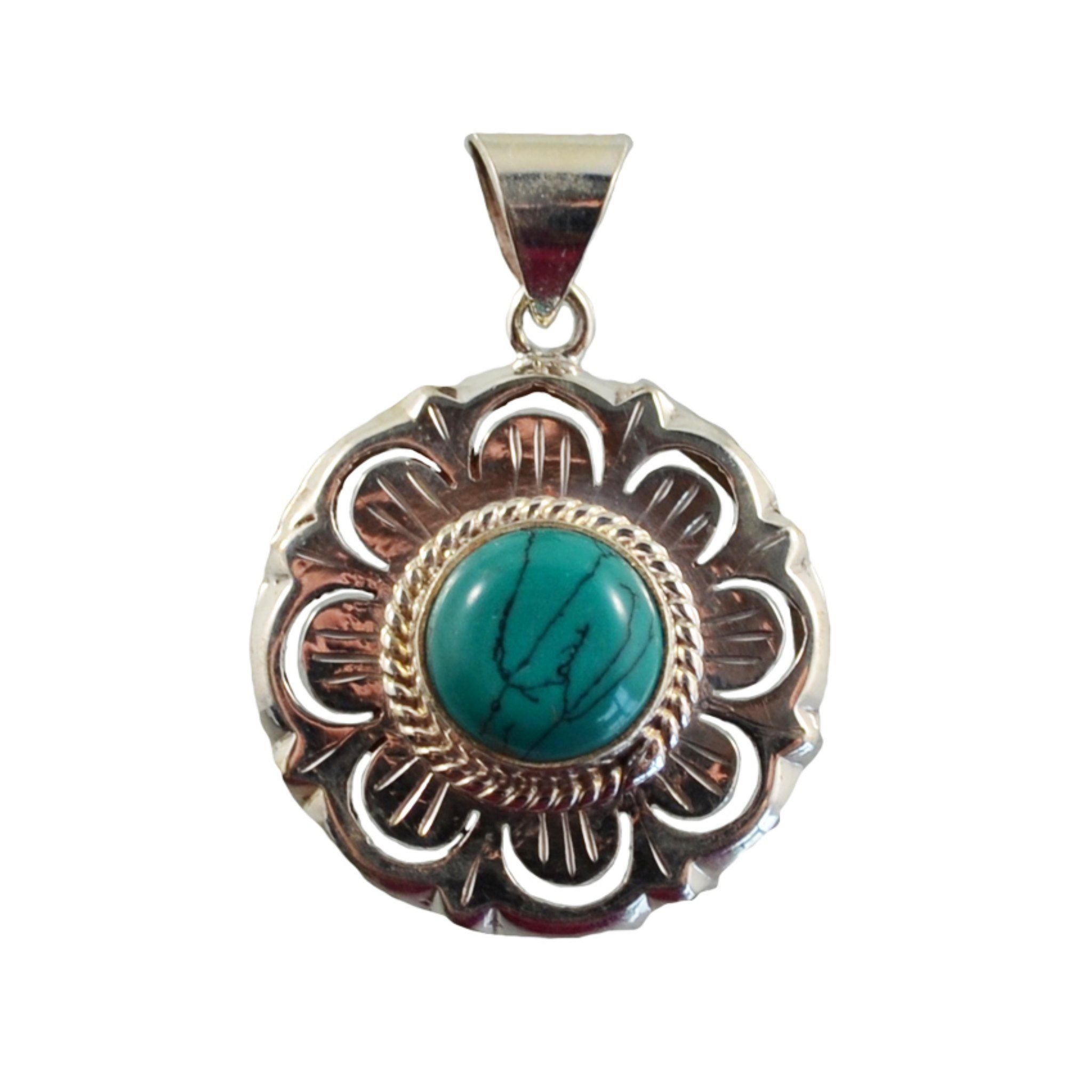 Teal Pendant with Petals Pendant Himal International