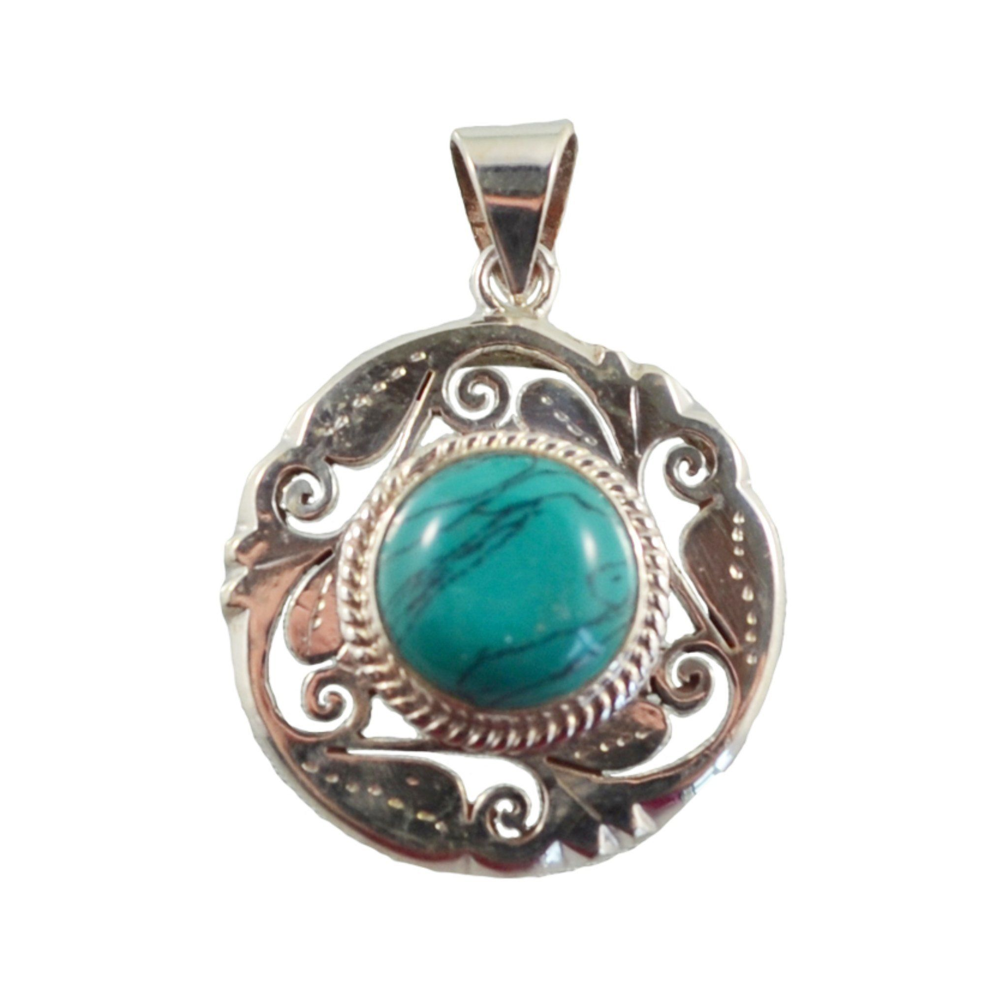 Teal Pendant with Swirls Pendant Himal International