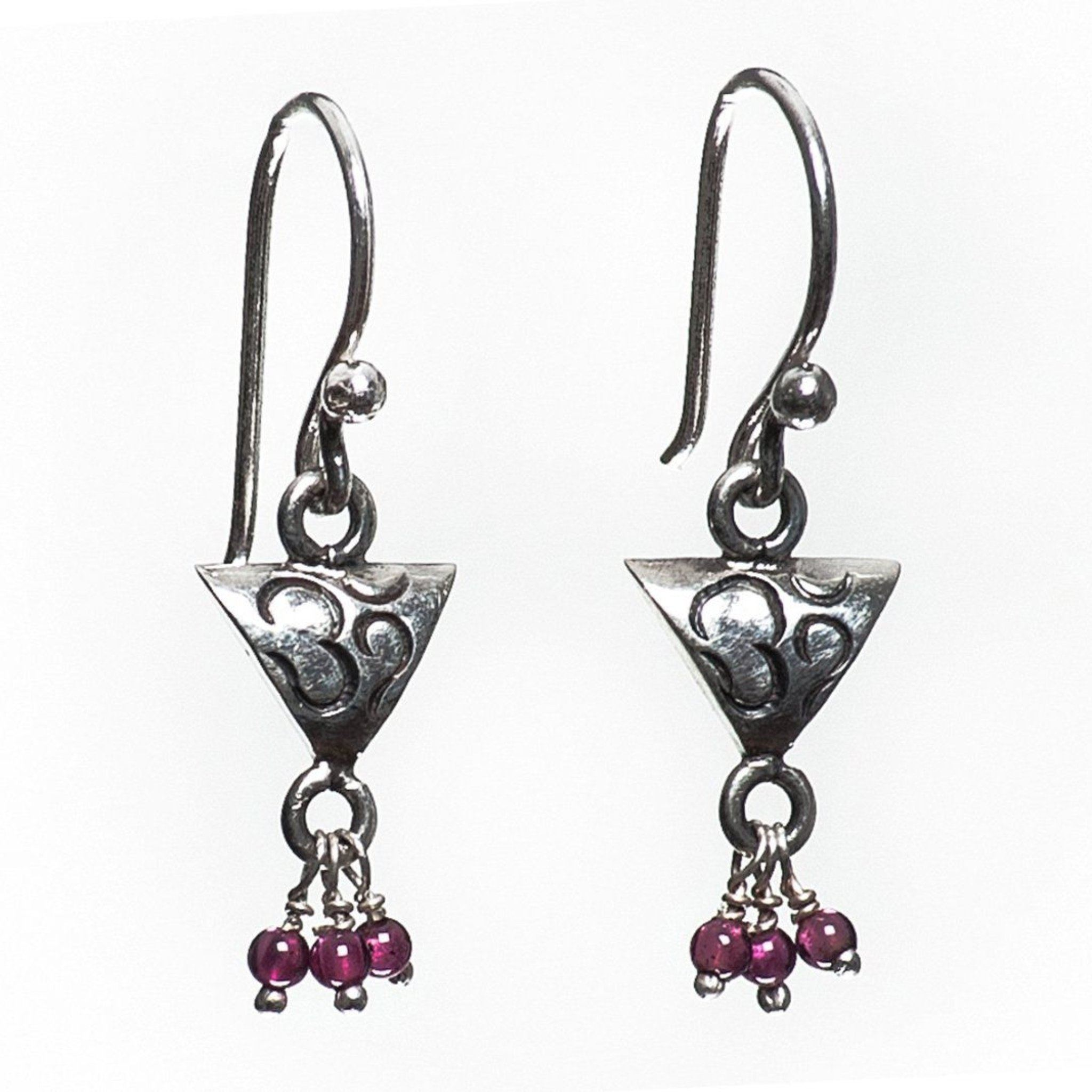 Triangle Om Earrings Millenium