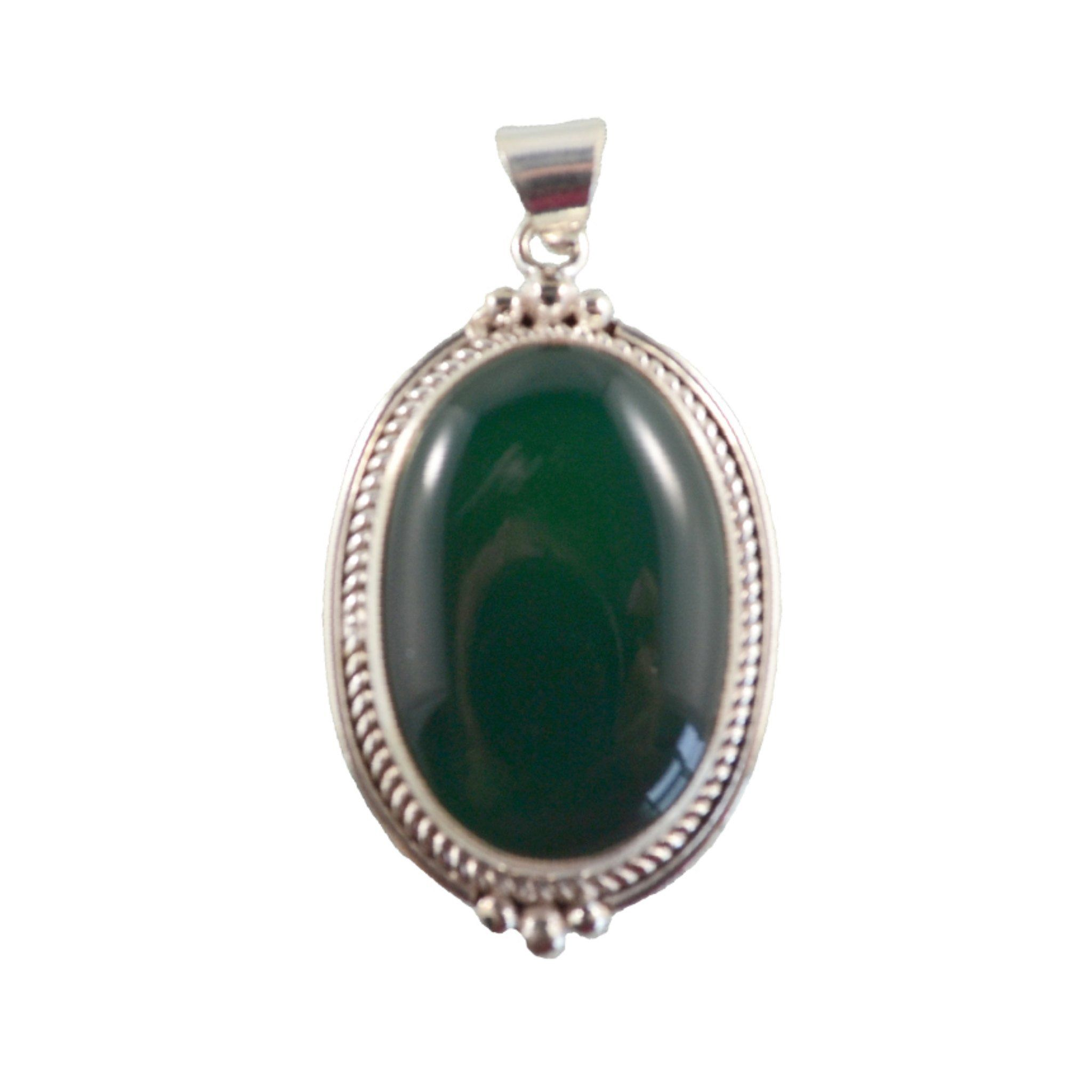 Verdant Green Oval Pendant Himal International