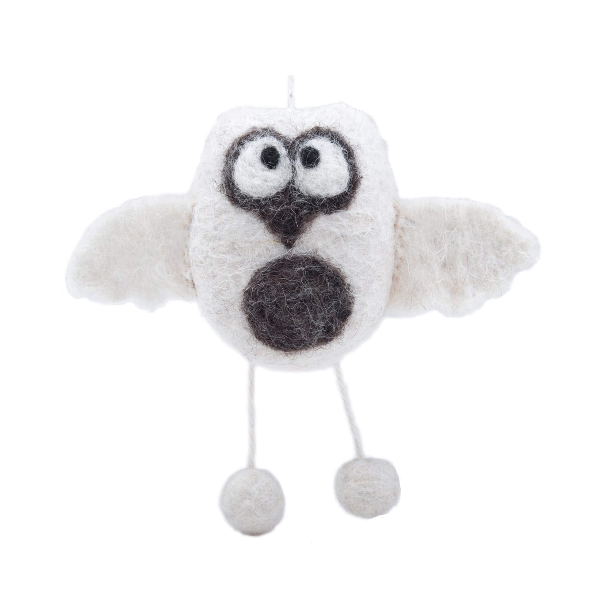 White Owl Grey Belly Christmas Ornament Everest Fashion