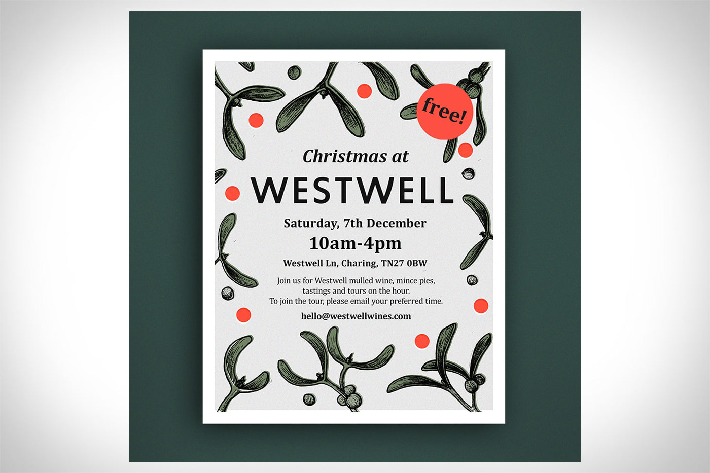 Christmas at Westwell<br>Saturday, 7th December