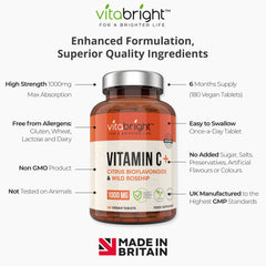 Vitamin C 1000mg with Wild Rosehip & Citrus Bioflavonoids