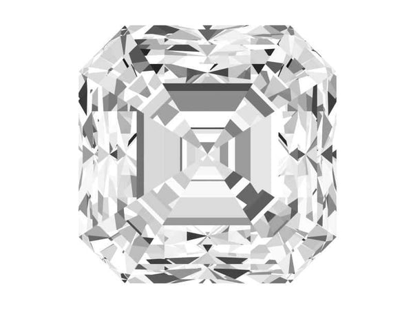 0.71 Carat Asscher Diamond H Color VS2 Clarity