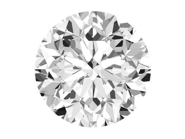 0.70 Carat Round Diamond D Color VVS2 Clarity